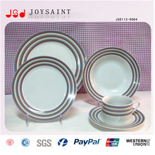 Wholesale High Quality Unbreakable Ceramic Handpainting Dinner Set 18 PCS