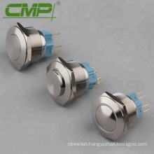 CMP 28mm Latching Metal Waterproof Push Button Switch