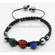 2012 bijoux battement, bracelet en cristal tissé à la main shamballa en cristal