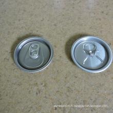 58mm 206 Couvercles en aluminium 500ml Canette à boisson