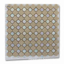 Glass Mosaic Tiles, Comes in Good Adhesion and Durable