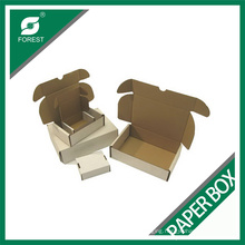 White Self-Locking Tuck-Top Mailing Box Corrugated Mailer