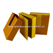 2014 High-end Sleeve Jewelry Boxes, Made of Cardboard and Fancy Paper, Customized Sizes and Logos