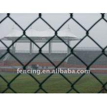 green PVC Coated Diamond Wire Mesh Fence