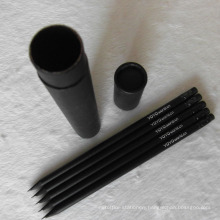 Wholesale Black Wooden Hb Pencil with Eraser (XL-02017)