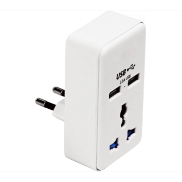 Single-hole plug adapter suitable with USB for travel