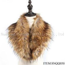 Faux Raccoon and Fox Fur Scarf Snqq050