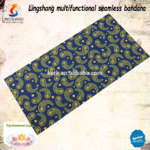 Günstige Großhandel Digitaldruck benutzerdefinierte Schal Turban Bandana lustige Kopfbedeckung