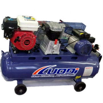 Воздушный компрессор двойного назначения может использовать бензиновый и электрический поршневой тип