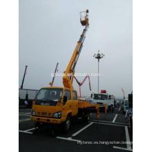 Camión de plataforma de trabajo de gran altura extensible con 28M de altura Soporte aislante y brazo aislado