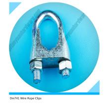 Clip de cuerda maleable clip de cuerda de alambre DIN741
