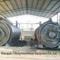 Resíduos de pirólise por microondas para usina de energia