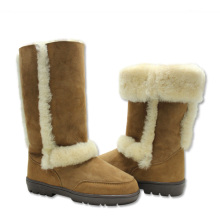 Factory best selling for Womens Leather Winter Boots Comfortable women winter warm sheepskin boots with fur supply to Samoa Manufacturer