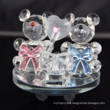 New Design Crystal Animal Teddy Bear Craft For Wedding Decoration