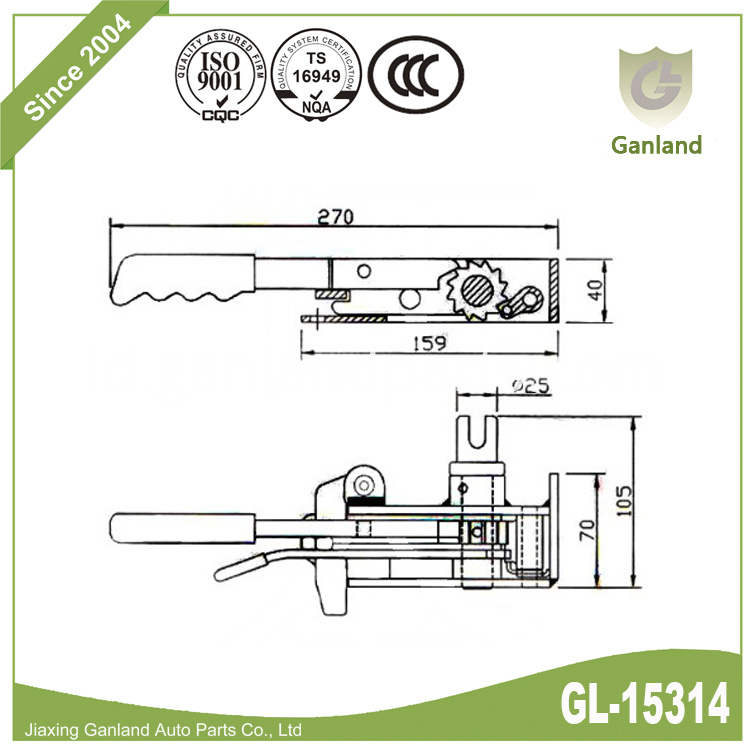 R44 Curtain Tensioner Right gl-15314
