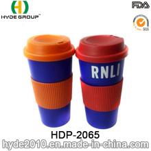 BPA portable, taza de plástico café gratis (HDP-2065)
