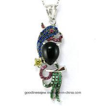 Diseño especial y precio de fábrica Nuevo colgante de plata de fundición de joyería de plata de Guangzhou P4983