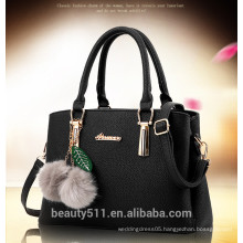 2017 fashion latest leather Pack with balls shopping hand bags trend women tote bag ladies handbags HB09