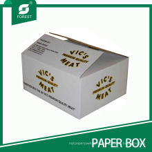 White Logo Printed Food Grade Meat Pack Shipping Carton