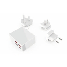 US EU UK AU Socket USB Maxmum 2.4A Reiseladegerät, 4Port 40W USB Ladegerät