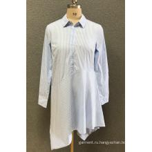 женская повседневная рубашка с длинным рукавом