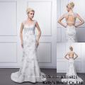 Келли Оптовая любимого спинки рукавов свадебные этаж длина русалка стиль выпускного платья / свадебное платье