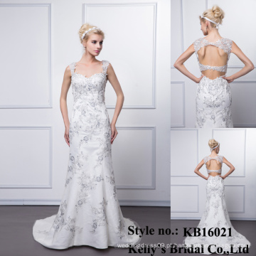 Kelly Bridal Atacado Sweatheart sem mangas sem mangas estilo sereia estilo vestido de formatura / vestido de noiva