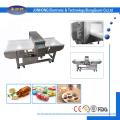 Waste plastics processing metal detector