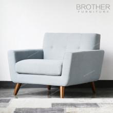 Sofá moderno del asiento único de la tela moderna del estilo americano del último diseño