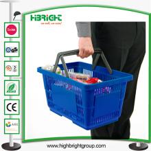 Cestas de compras con recubrimiento de polvo de plástico