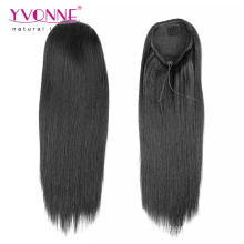 Kinky Straight Ponytail Human Hair Extensions