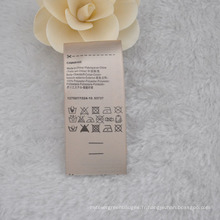 Étiquette / taille lavable à la crème-colorée, étiquette de composition pour vêtement