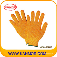 Acrylic Polyester Criscross Knitted Industrial Safety Work Gloves (61011AP)