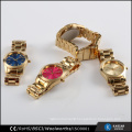 Japan quartz gold plated quality watches custom made splendid watch ladies
