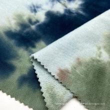 El lazo 100% vendedor caliente del algodón 280GSM teñió la tela de felpa francesa que hace punto del lazo pequeño para las camisetas de los hombres