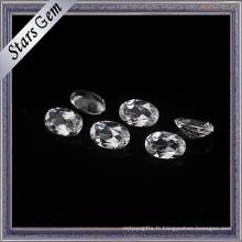 Pierres précieuses à base de facettes ovales synthétiques CZ pour bijoux