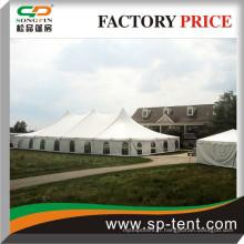 Siège de 400 places Assise assis Pole Style Tente 40x80 avec des sommets simples et des fenêtres latérales