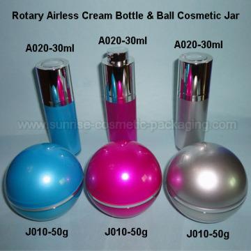 30ml Lotion rotatif presse flacon 30ml boule forme cosmétique Con