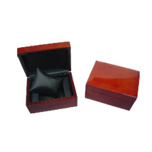 Wooden Coating Black Leather Pillow Watch Box (BX-WP-RB)
