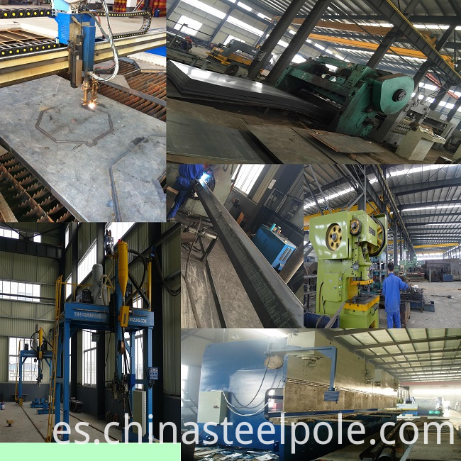 steel pole producing process