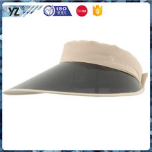 Factory supply custom design wholesale plastic sun visor cap with good offer