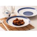 Melamine Blue and White Dinnerware/Melamine Round Plate (13827-10)