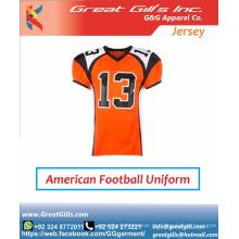 neueste Designs Jugend sublimiert benutzerdefinierte American Football Trikot