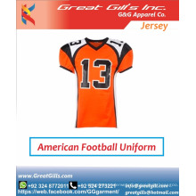 latest designs youth sublimated custom american football jersey