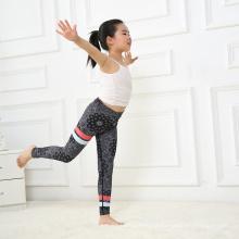 Black Polyester Spandex Kids Leggings