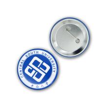 Пользовательский логотип школы печати круглый значок металла Pin
