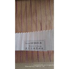 Nueva tela de la cortina del Organza de la raya de la manera 201508