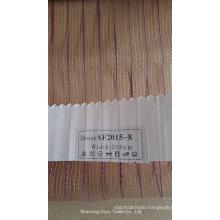 New Fashion Stripe Organza Sheer Curtain Fabric 201508