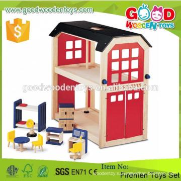 Горячие продажи и популярные предметы 2 Полы Пожарные игрушки набор DIY Деревянные интеллектуальные игрушки для детей