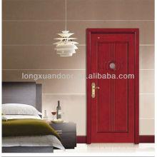 Porta de madeira maciça, portas de madeira de teca sólidas, portas de madeira sólidas interiores